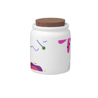 CUTIE VIRUSES. ABSTRACT Painted Art Candy Jar