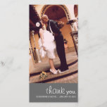 """CUTIE WEDDING THANK YOU PHOTO CARD<br><div class=""""desc"""">If you do not find the color scheme you are looking for,  please feel free to send us a message and we will gladly customize your order.</div>"""