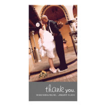 CUTIE WEDDING THANK YOU PHOTO CARD