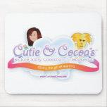 Cutie y colección de la novedad del cacao tapete de raton
