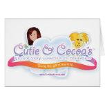 Cutie y colección de la novedad del cacao tarjeta de felicitación