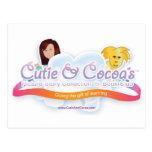 Cutie y colección de la novedad del cacao tarjetas postales