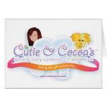 Cutie y colección de la novedad del cacao tarjetas