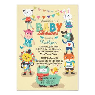 Cuties animal celebra la invitación de la fiesta