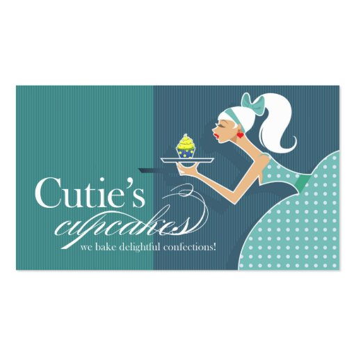 Cutie's Cupcakes - Confections Desserts Pastries Business Card Template