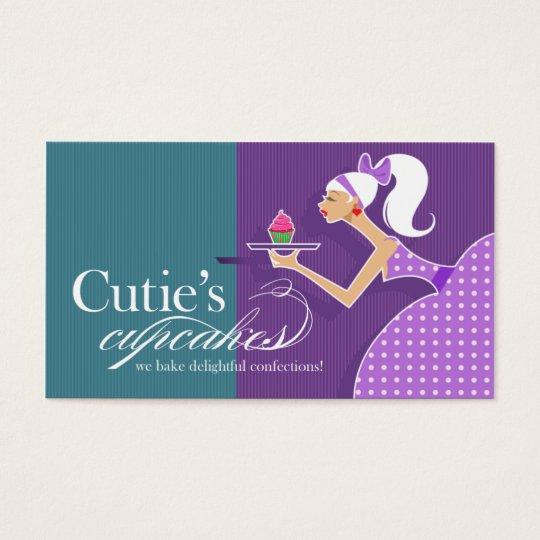 Cutie's Cupcakes - Confections Desserts Pastries Business Card
