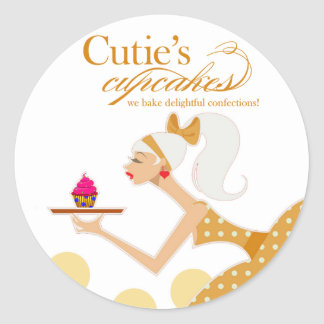 Cutie's Cupcakes - Confections Desserts Pastries Stickers