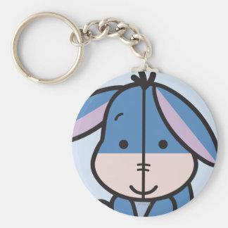 Cuties Eeyore Basic Round Button Keychain