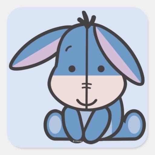 Cuties Eeyore Square Stickers