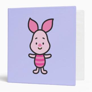 Cuties Piglet 3 Ring Binder