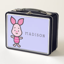 Cuties Piglet Metal Lunch Box