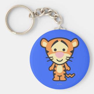Cuties Tigger Basic Round Button Keychain