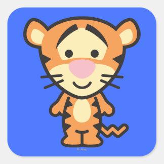 Cuties Tigger Square Sticker