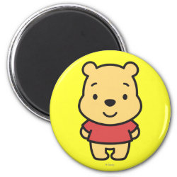 Round Magnet with Super Cute Winnie the Pooh design