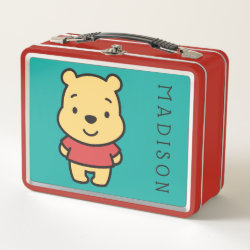 Metal Lunch Box with Super Cute Winnie the Pooh design