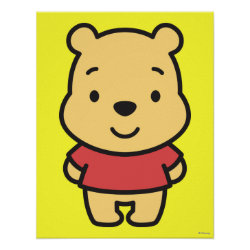 Matte Poster with Super Cute Winnie the Pooh design