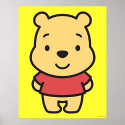 Matte Poster with Super Cute Winnie the Pooh design