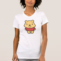 Women's American Apparel Fine Jersey Short Sleeve T-Shirt with Super Cute Winnie the Pooh design