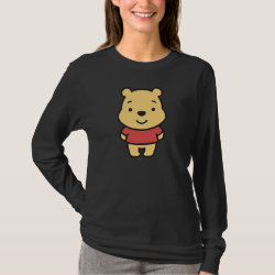 Women's Basic Long Sleeve T-Shirt with Super Cute Winnie the Pooh design