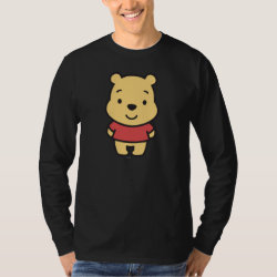 Men's Basic Long Sleeve T-Shirt with Super Cute Winnie the Pooh design