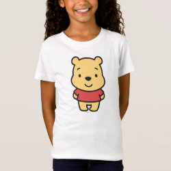 Super Cute Winnie the Pooh Girls' Fine Jersey T-Shirt