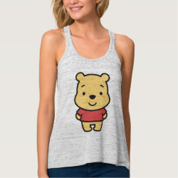 Super Cute Winnie the Pooh Women's Bella+Canvas Flowy Racerback Tank Top