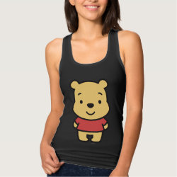 Women's Slim Fit Racerback Tank Top with Super Cute Winnie the Pooh design