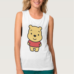 Women's Bella Flowy Muscle Tank Top with Super Cute Winnie the Pooh design