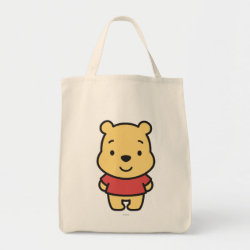 Grocery Tote with Super Cute Winnie the Pooh design