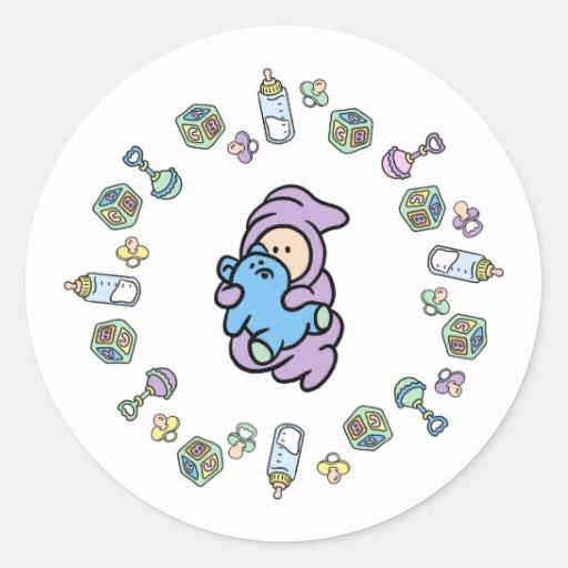 Cutietoots Baby Objects, Baby & Bear Sticker
