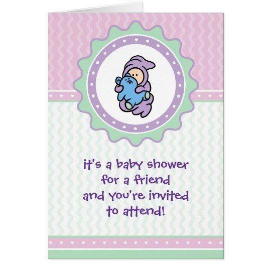 Cutietoots Baby Shower Invitation - Pink/Green