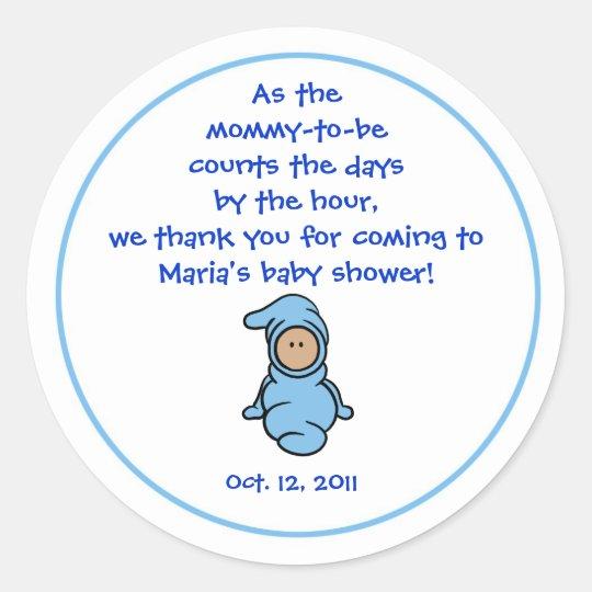 Cutietoots Baby Shower Party Favor Sticker