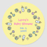 Cutietoots Baby Shower Party Favor Stickers
