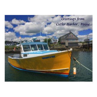 Cutler Harbor Maine Postcard