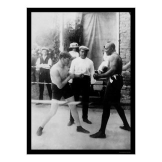 Cutler vs. Johnson Boxing Match 1914 Poster
