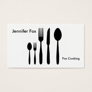 Cutlery Business Card