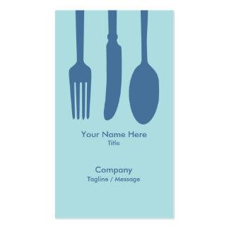 Cutlery Cafe Business Card (Light Blue)