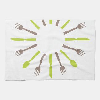Cutlery design tea-towel kitchen towel