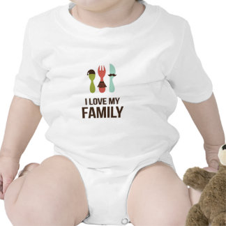 Cutlery - I Love M y Family Rompers
