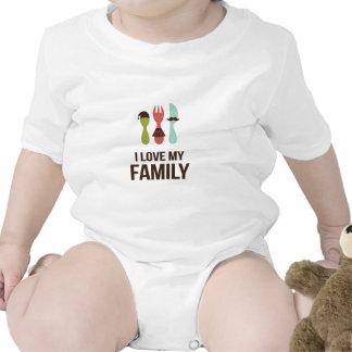 Cutlery - I Love M y Family Bodysuits