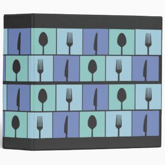 Cutlery Kitchen Modern Cooking Recipe Book Binder