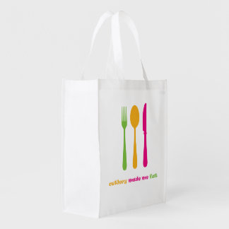 Cutlery made me fat reusable grocery bag