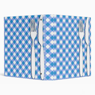 Cutlery on Table Cloth 3 Ring Binder