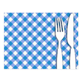 Cutlery on Table Cloth Postcards