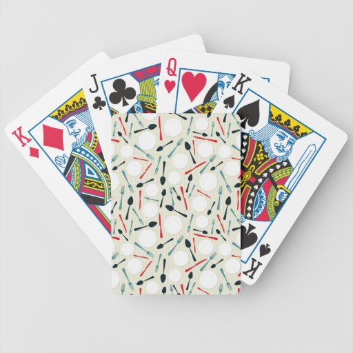 Cutlery pattern bicycle playing cards