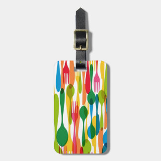 Cutlery Pattern Illustration Tags For Bags