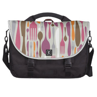 Cutlery Silhouette Icons Pattern 2 Laptop Computer Bag