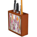 Cutlery Silhouette Icons Pattern 2 Pencil Holder