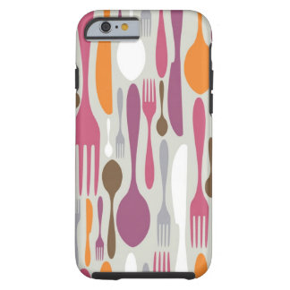 Cutlery Silhouette Icons Pattern 2 Tough iPhone 6 Case