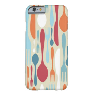 Cutlery Silhouette Icons Pattern Barely There iPhone 6 Case